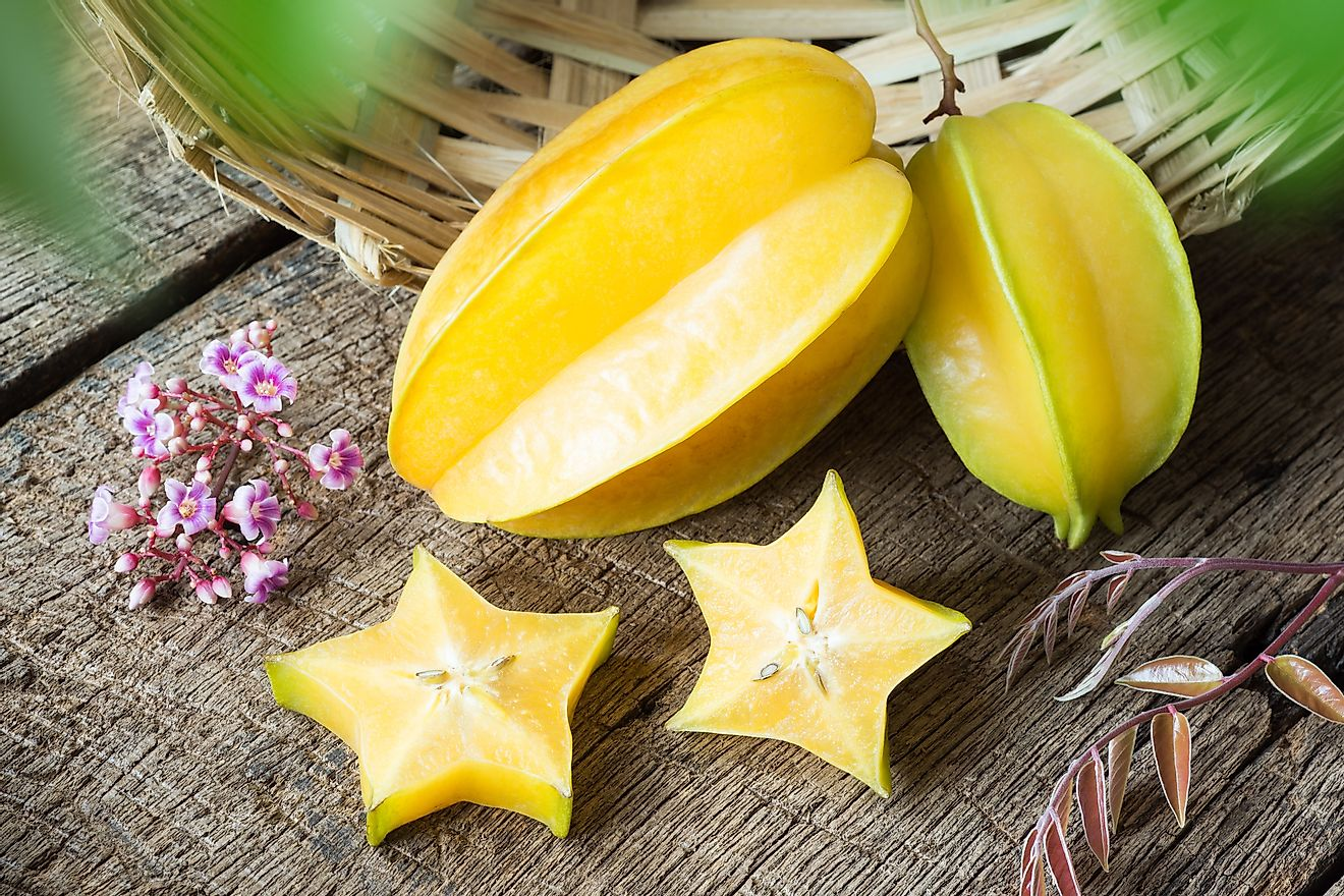 Starfruit is one of the many plant types found in Kazakhstan.