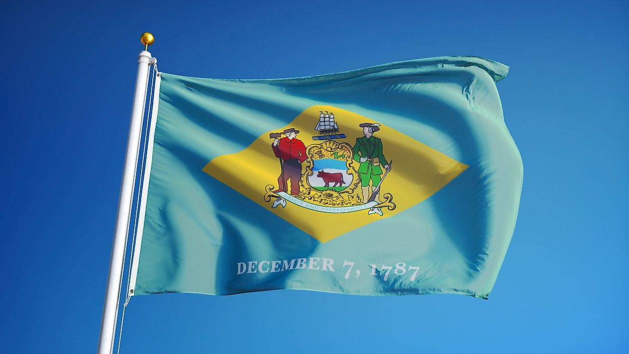 The state flag of Delaware.