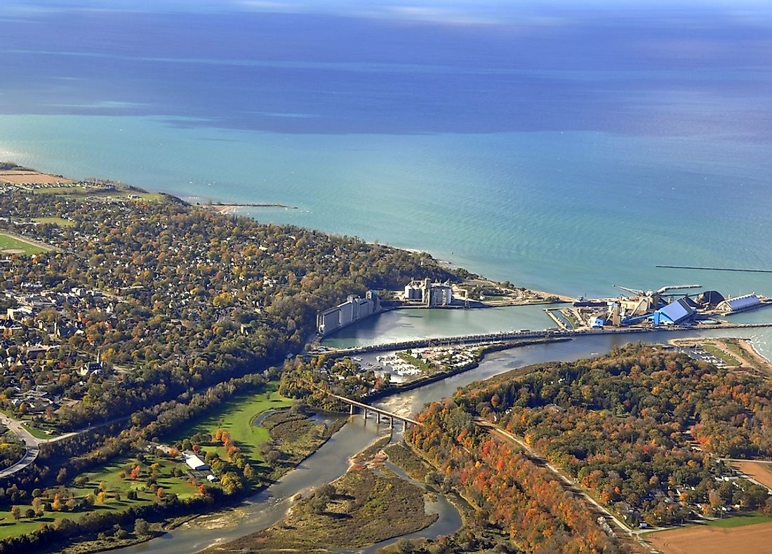 The salt mine in Goderich, Ontario.