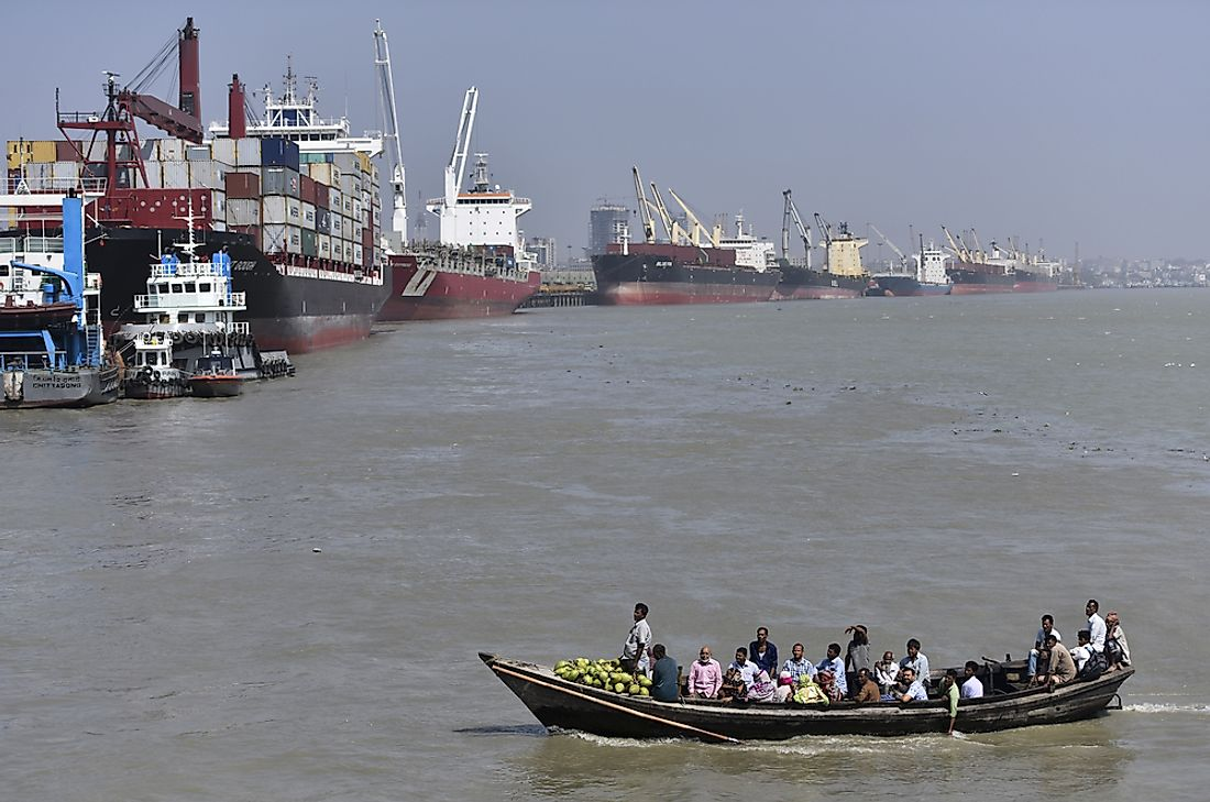 The Port of Chittagong on the Bay of Bengal. Editorial credit: Hafiz Johari / Shutterstock.com.