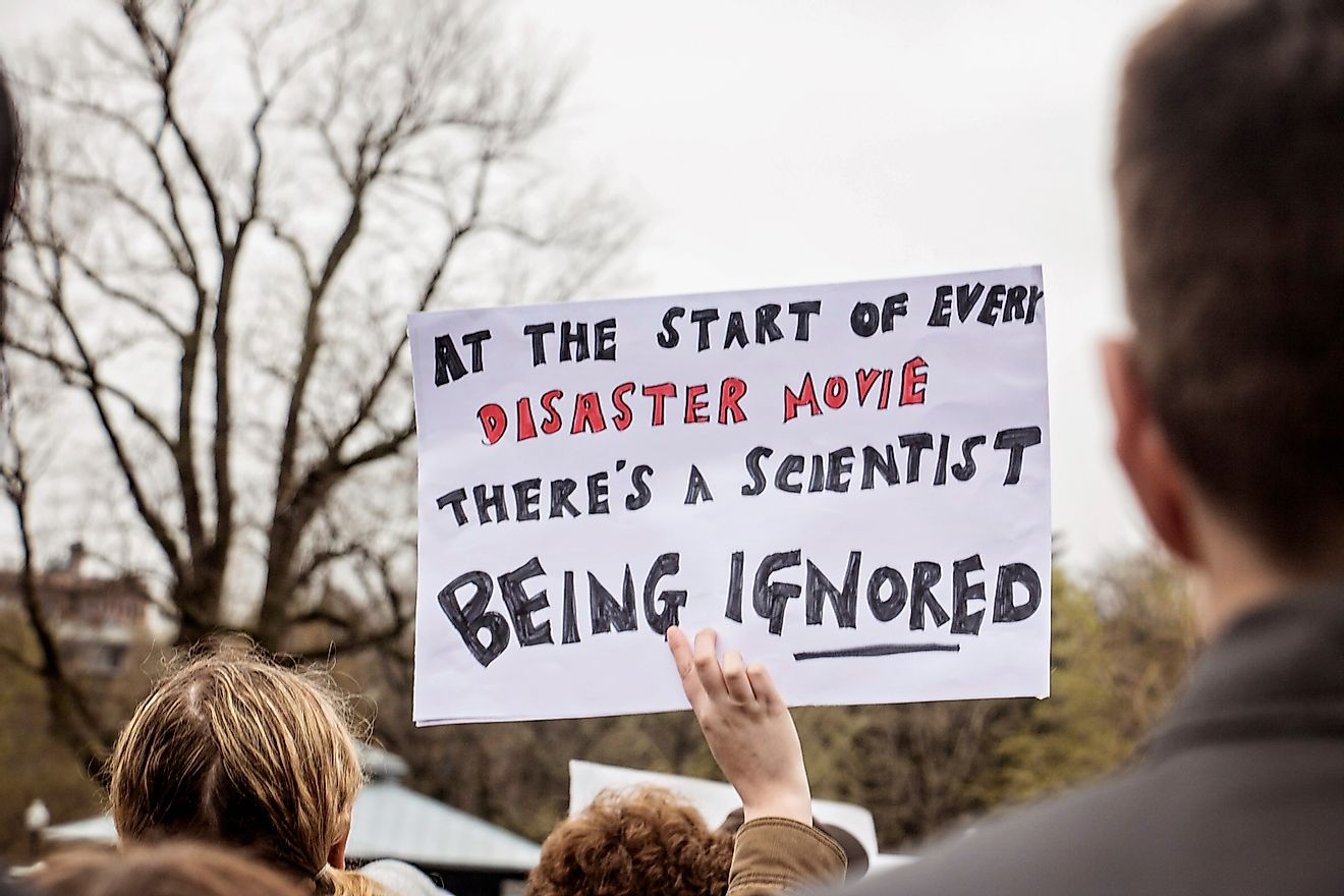Boston, Massachusetts/USA America- April 22nd, 2017 : Demonstration for science, climate change. Image credit: ELG Photography/Shutterstock.com