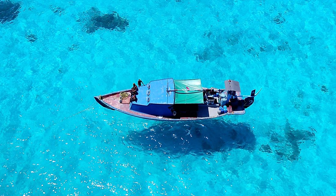 Fishing boat off the Maldives.
