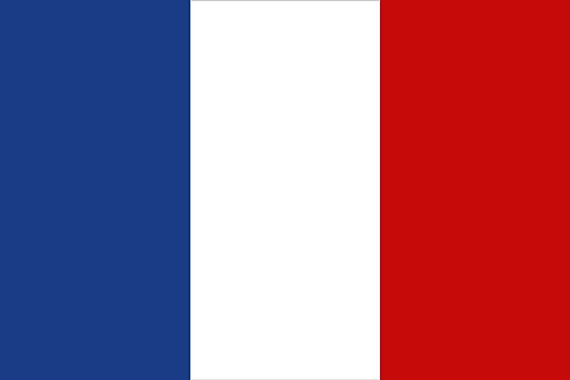 The flag of France.