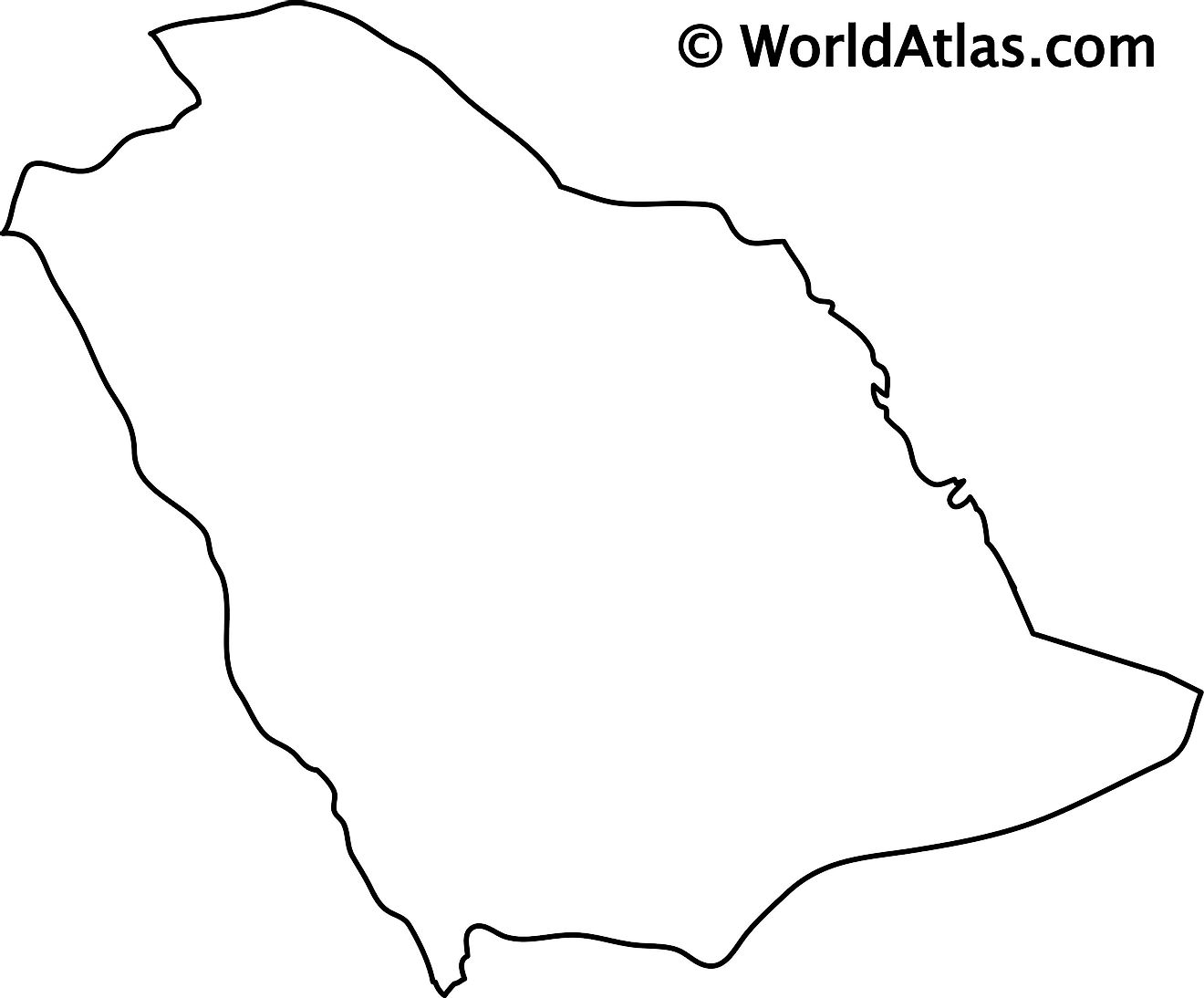 Outline Map of Saudi Arabia