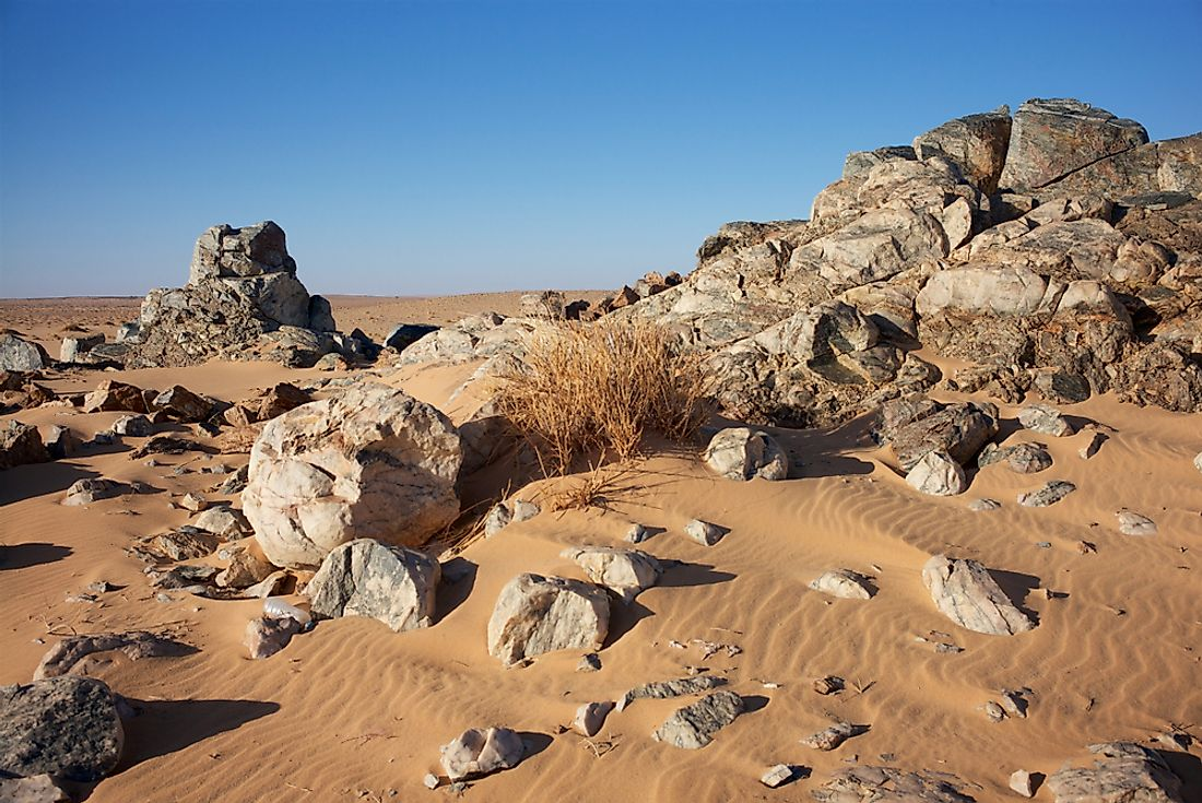 Akjoujt, Mauritania, where gold is found.