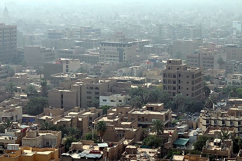 Baghdad, the capital and largest city of Iraq.