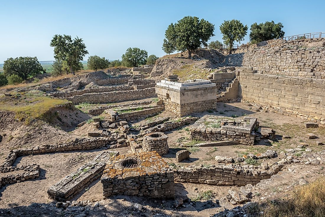 Ruins of the legendary city of Troy.
