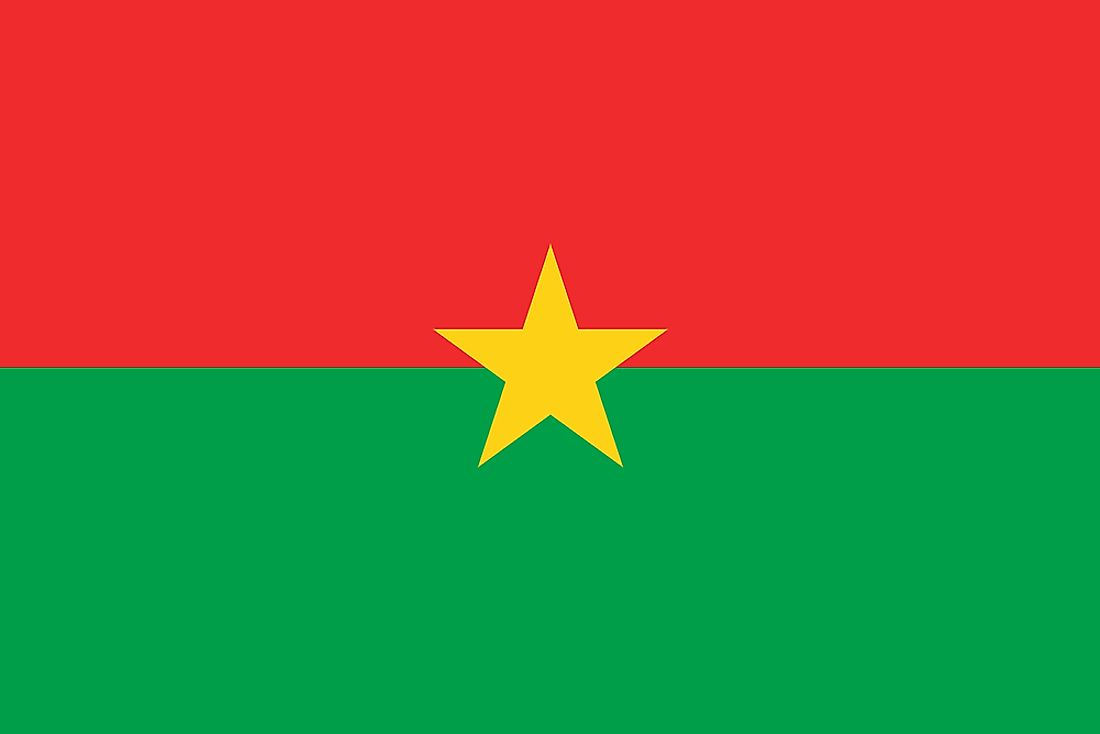 The flag of Burkina Faso.