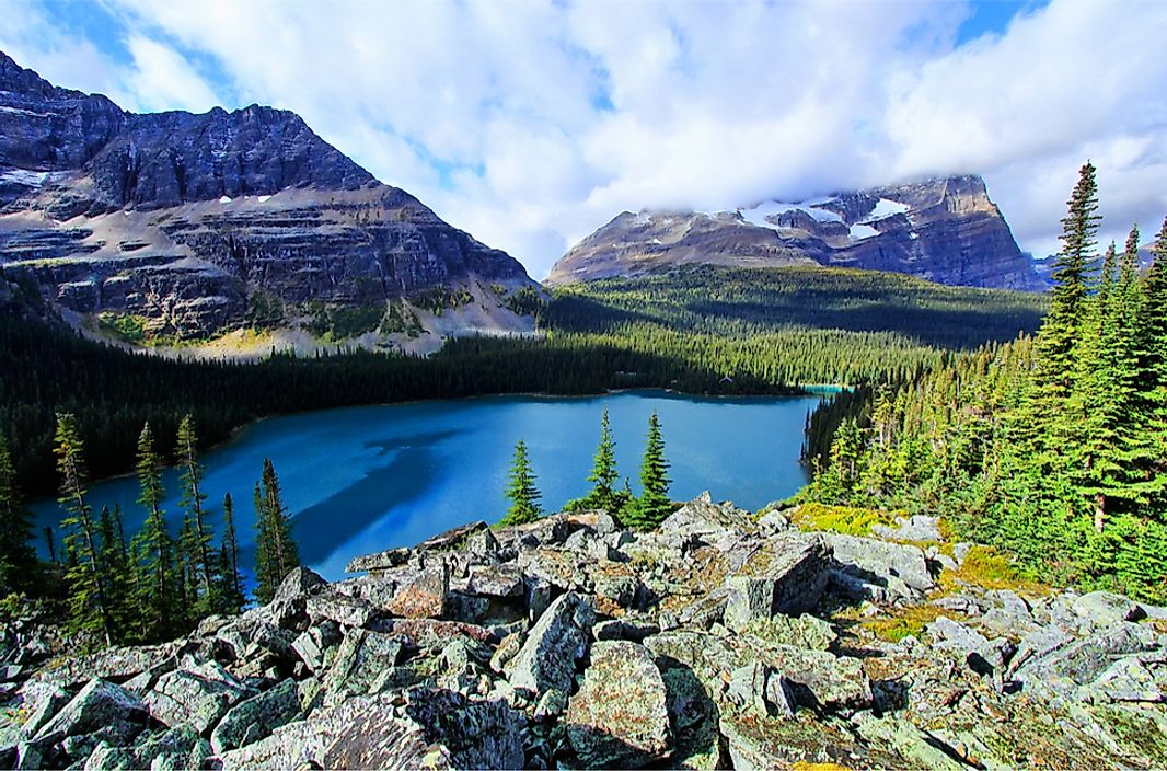 Lake O'Hara in Yoho National Park, British Columbia, Canada.