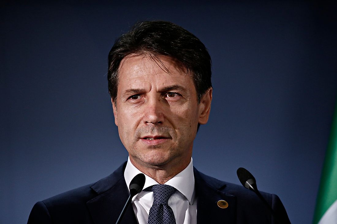 Giuseppe Conte, the current Prime Minister of Italy. Editorial credit: Alexandros Michailidis / Shutterstock.com.
