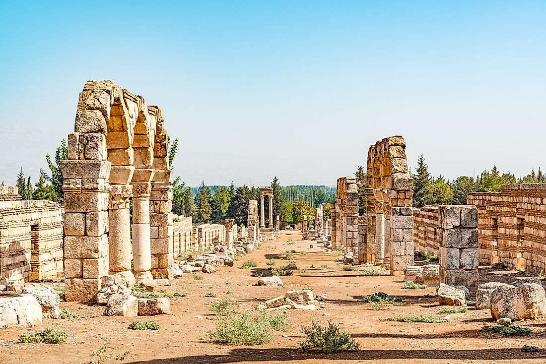 The Levant region is home to many ancient world heritage sites, including the City of Anjar in Lebanon, pictured here.