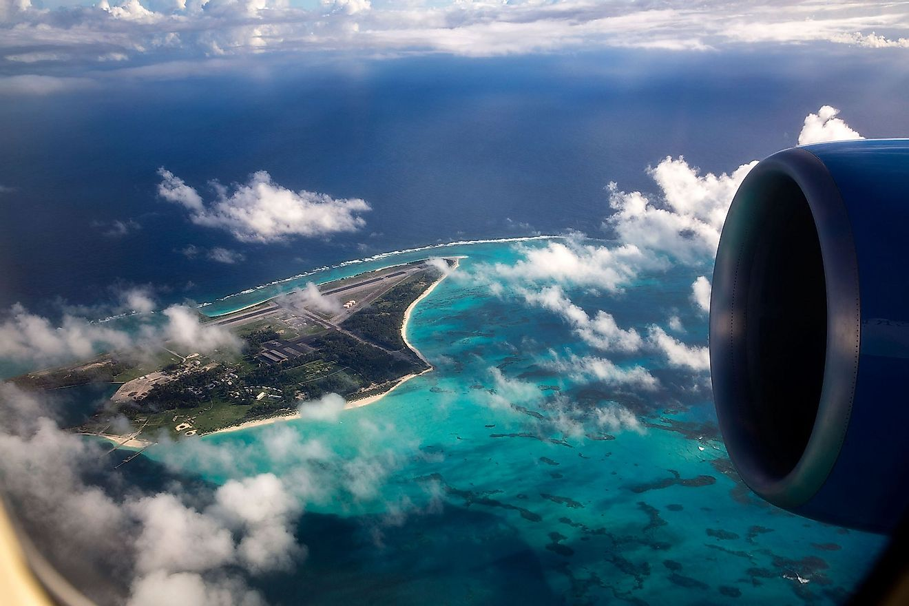 Midway Atoll from an airplane.