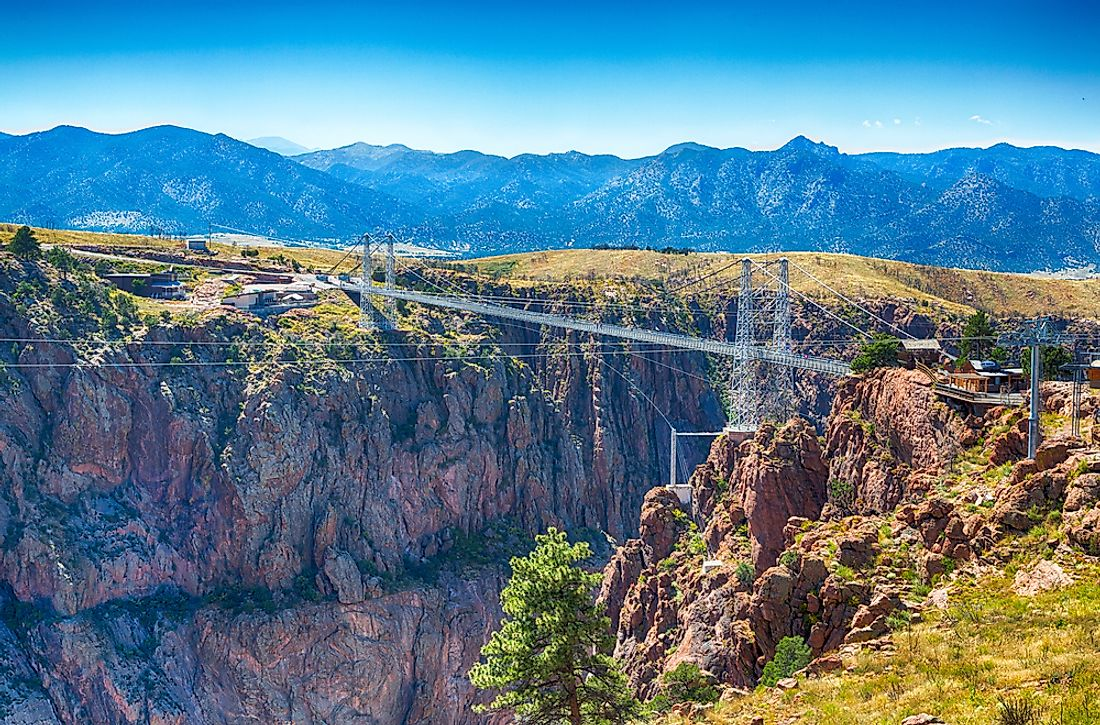 The Royal Gorge Bridge, the tallest bridge in the United States.
