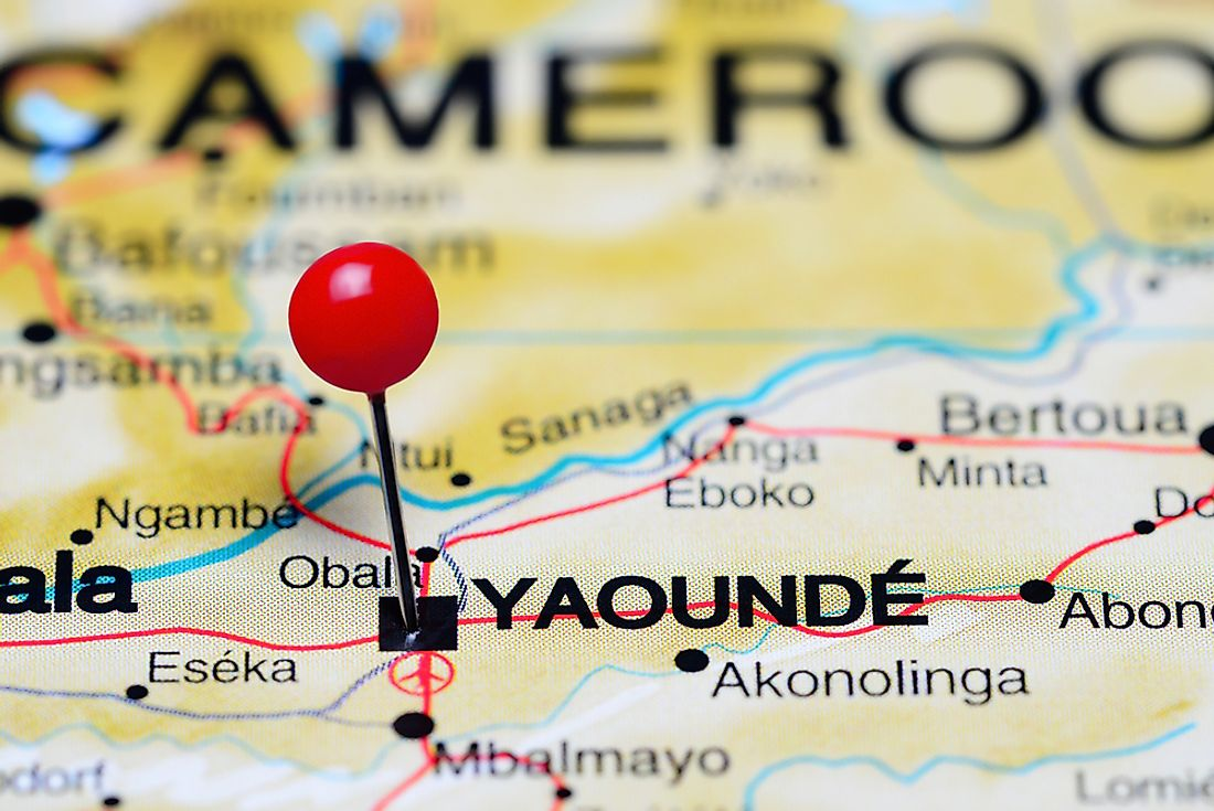 The location of the capital city of Yaoundé, Cameroon.