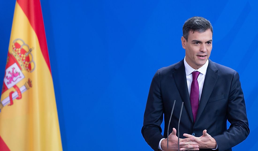 Prime Minister of Spain Pedro Sanchez.  Editorial credit: photocosmos1 / Shutterstock.com