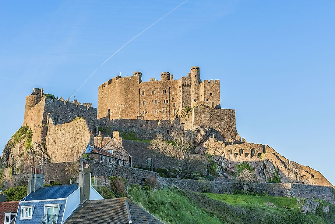 Mont Orgueil or Gorey Castle on the island of Jersey.