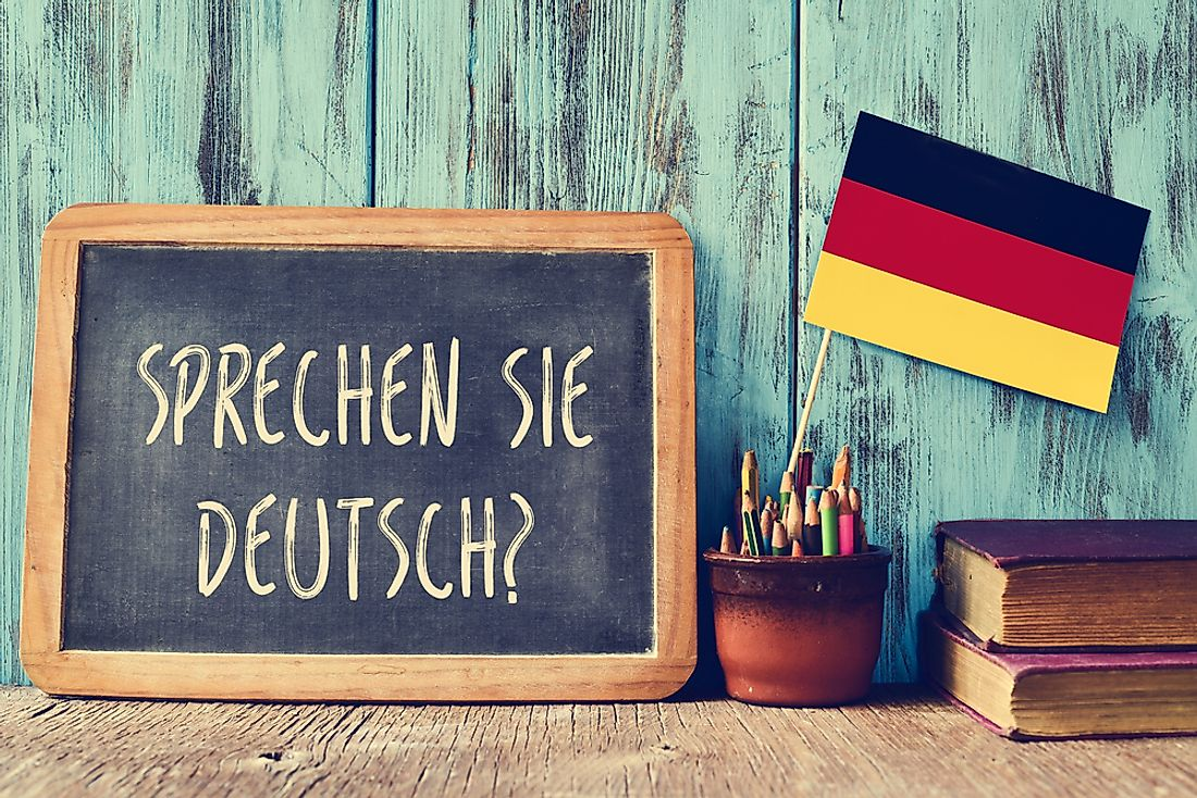 German is the major language spoken in Germany.