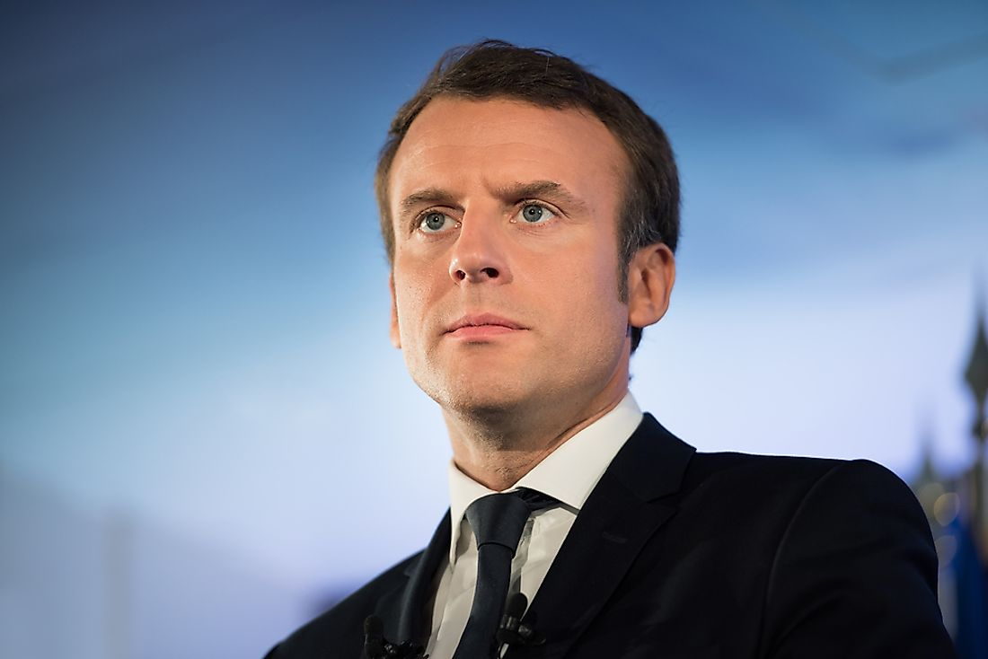 Emmanual Macron, the current President of France. Photo credit: Frederic Legrand - COMEO / Shutterstock.com.