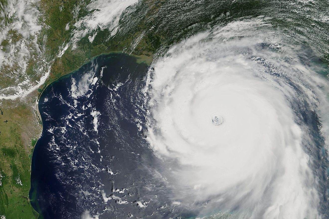 Hurricane Katrina heading towards New Orleans, Louisiana in 2005.
