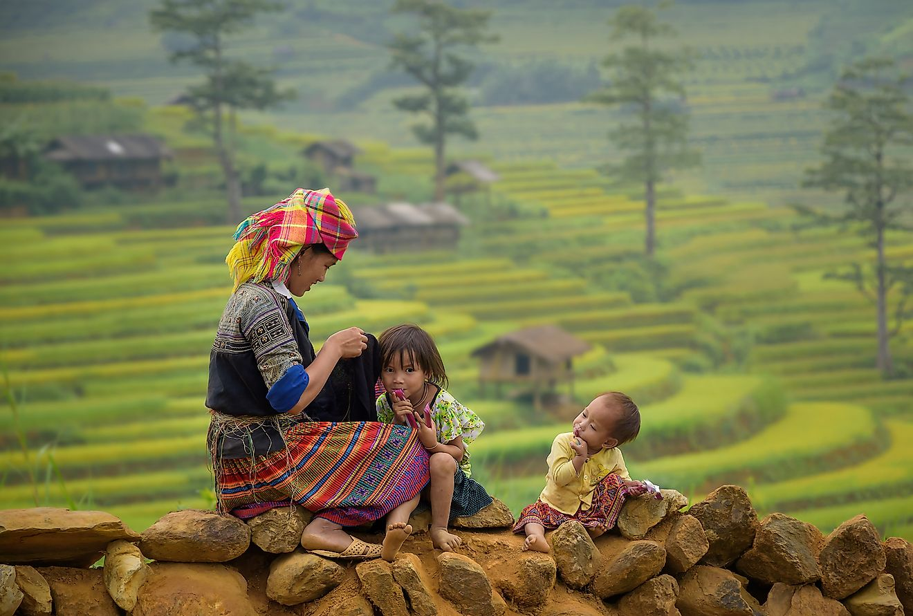 Chinese rural families were allowed to have two children if the first born was a girl. Image credit: Suriya99/Shutterstock.com
