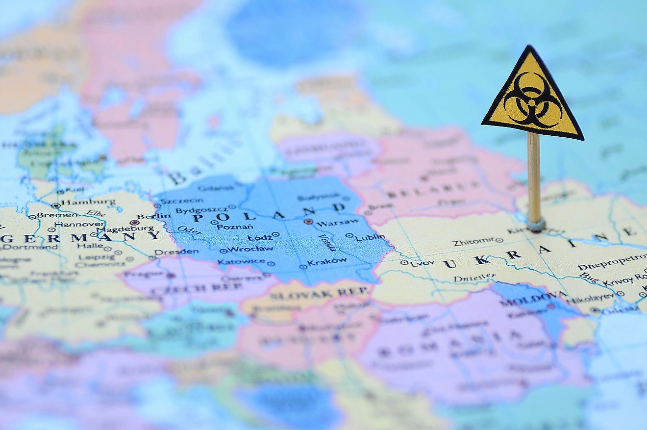 How far-reaching was the Chernobyl catastrophe, and how far did the radiation travel across Europe?