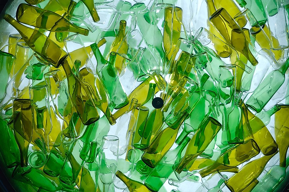 Glass is just one of the many materials that can be recycled.