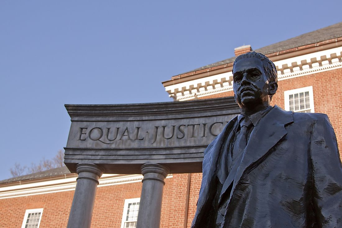 A state of Thurgood Marshall in Annapolis, Maryland.