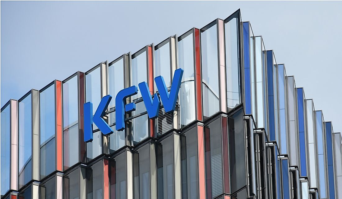 The KfW headquarters in Frankfurt, Germany.  Editorial credit: nitpicker / Shutterstock.com