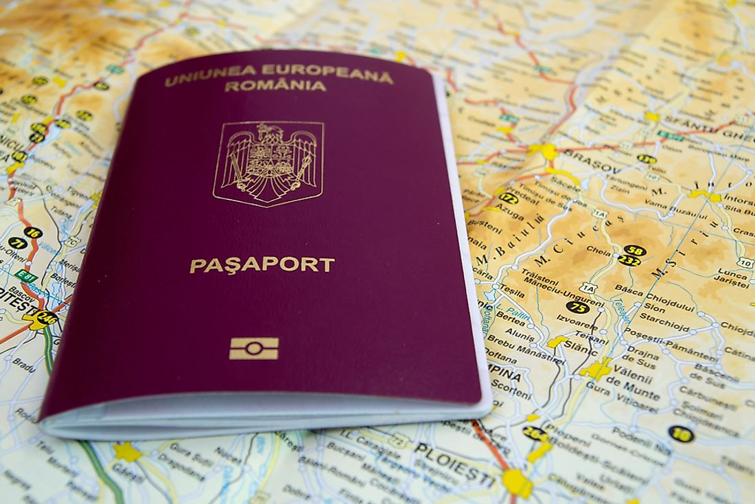 The Romanian passport.