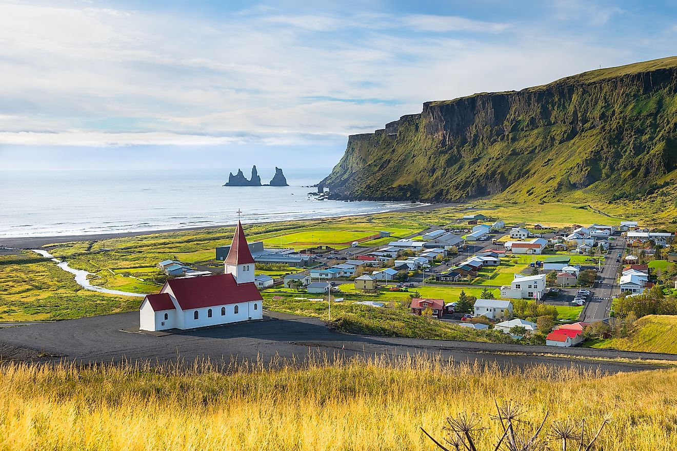 Vik village in Iceland.