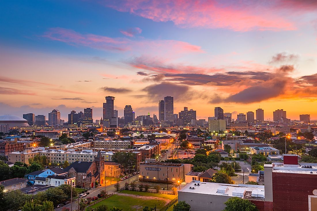 New Orleans has over 100 high-rise buildings.