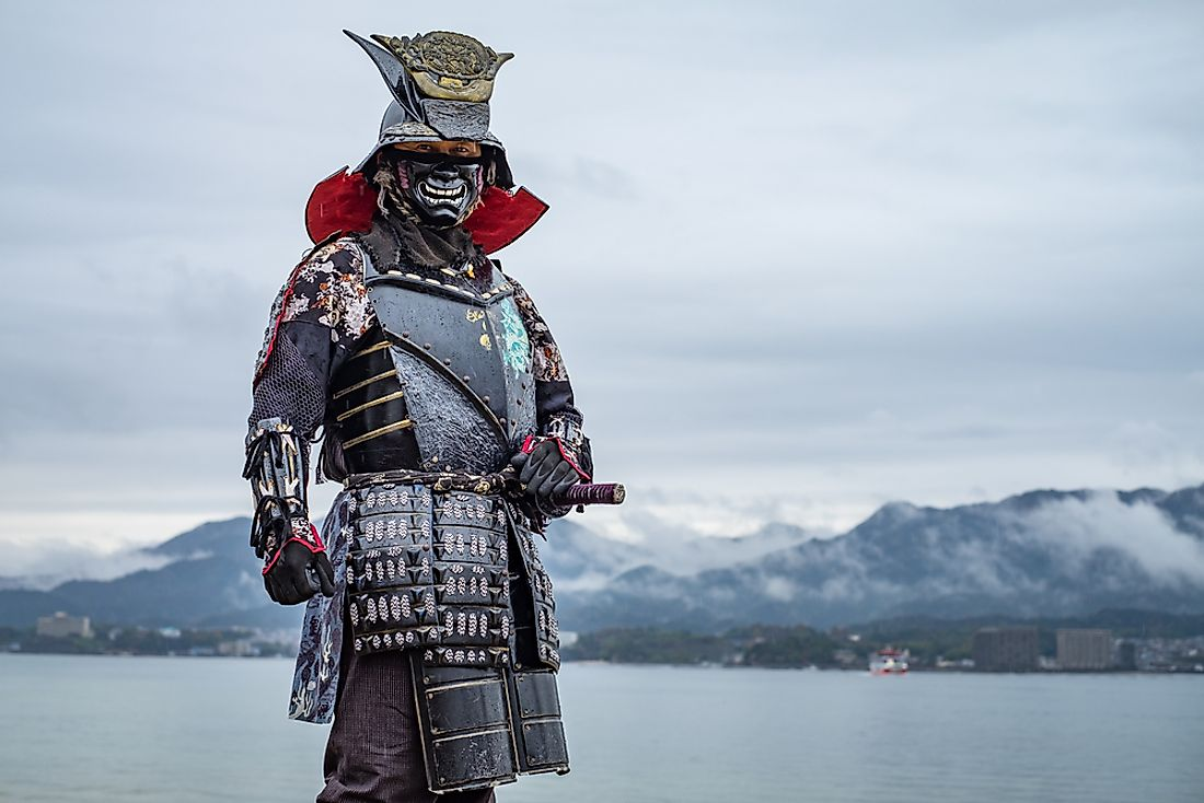 The Samurai had extremely elaborate armors, which they wore on the battlefield.