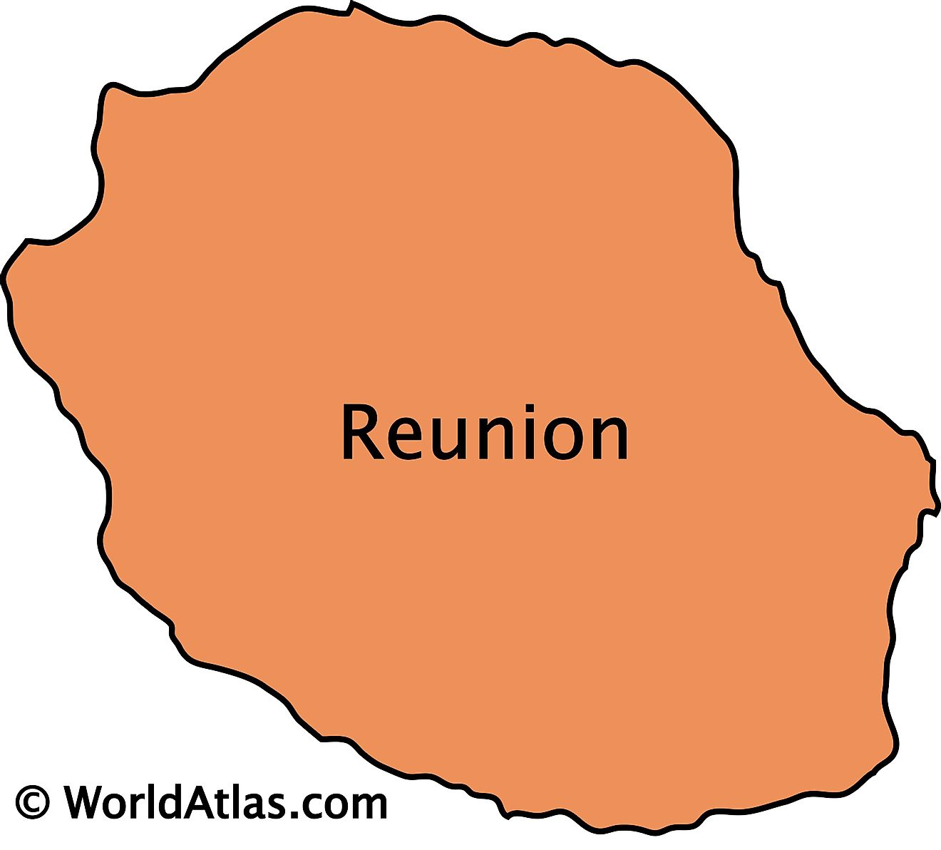 Outline Map of Reunion