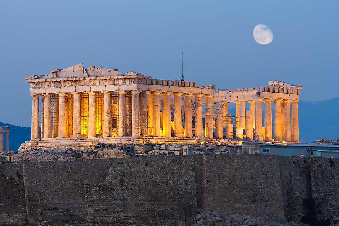 The Parthenon is part of the Acropolis of Athens in Athens, Greece.