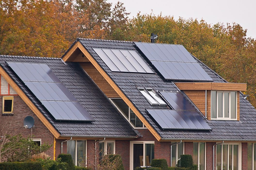 Photovoltaic cells help homeowners convert sunlight to energy.