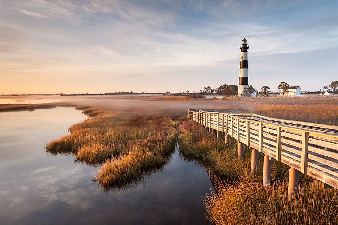 One of the many lighthouses along the Carolina coast.
