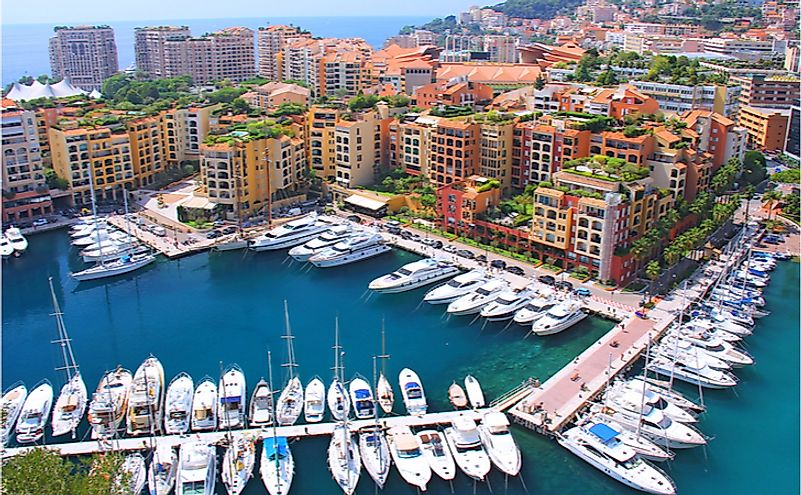Panoramic view of Fontvieille, Monaco.