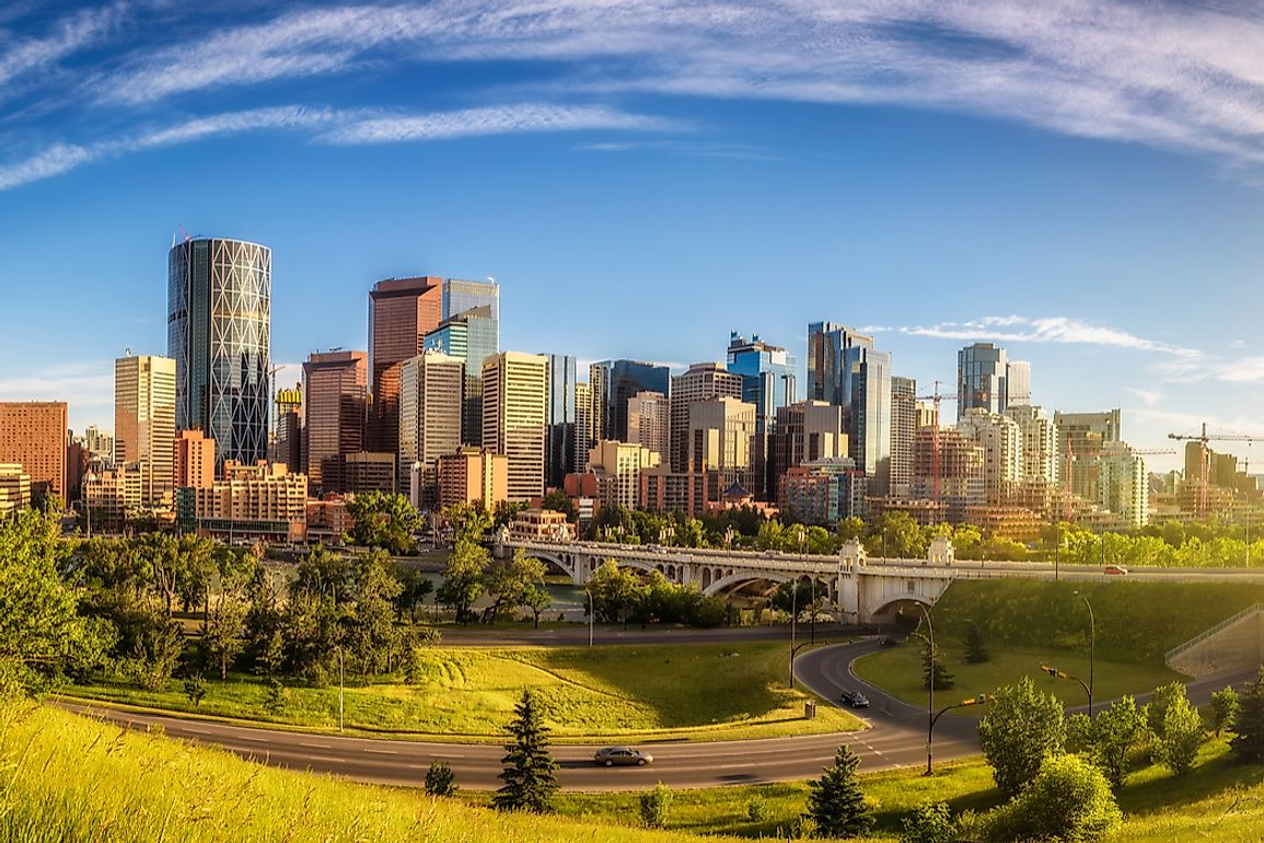 A sunny day in Calgary.