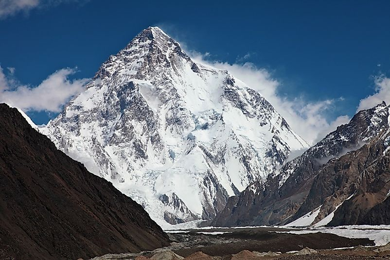 K2, the second highest summit on earth. along the Chinese-Pakistani border.