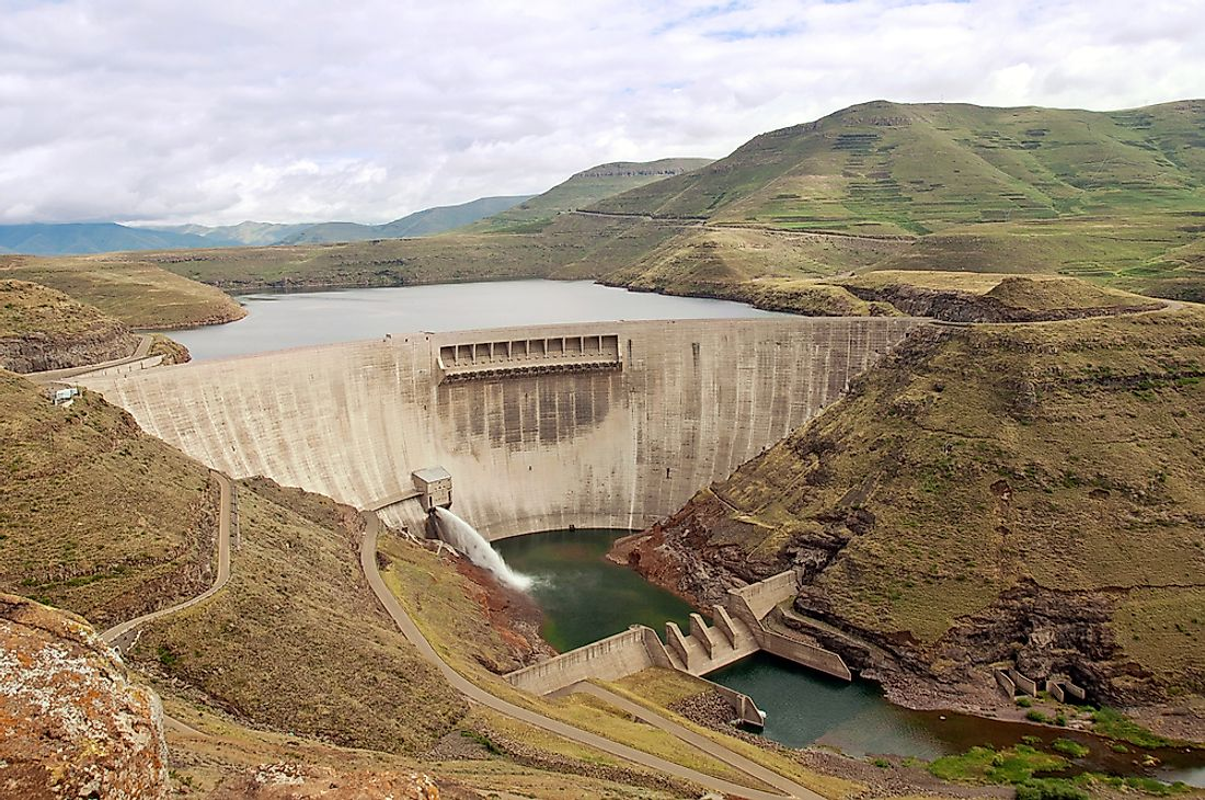 The Katse Dam in Lesotho.