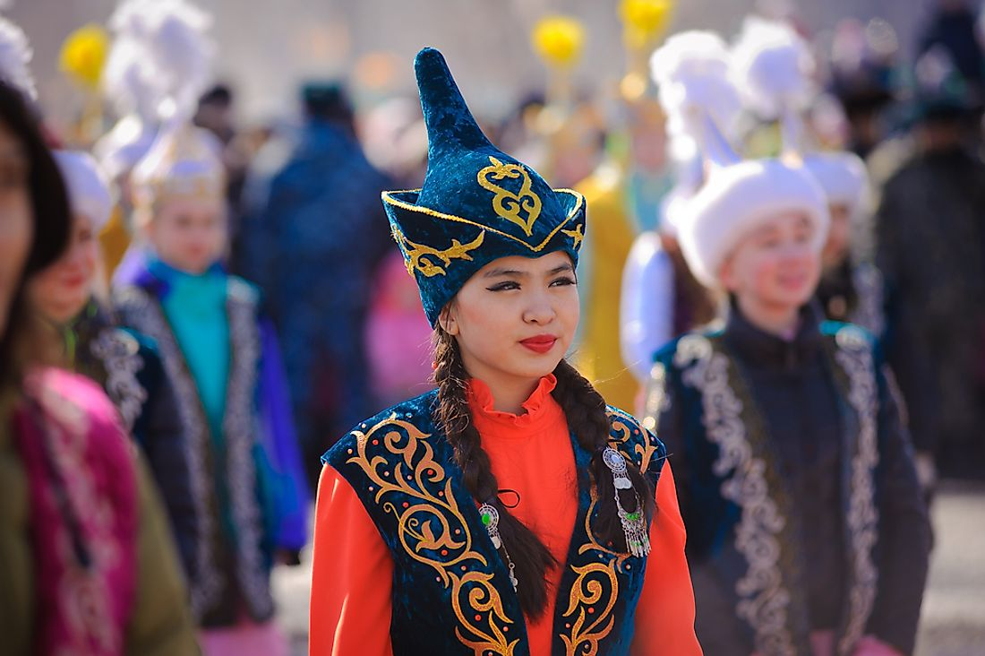 Kazakh people are the Feast of Nauryz. Editorial credit: kcv / Shutterstock.com.
