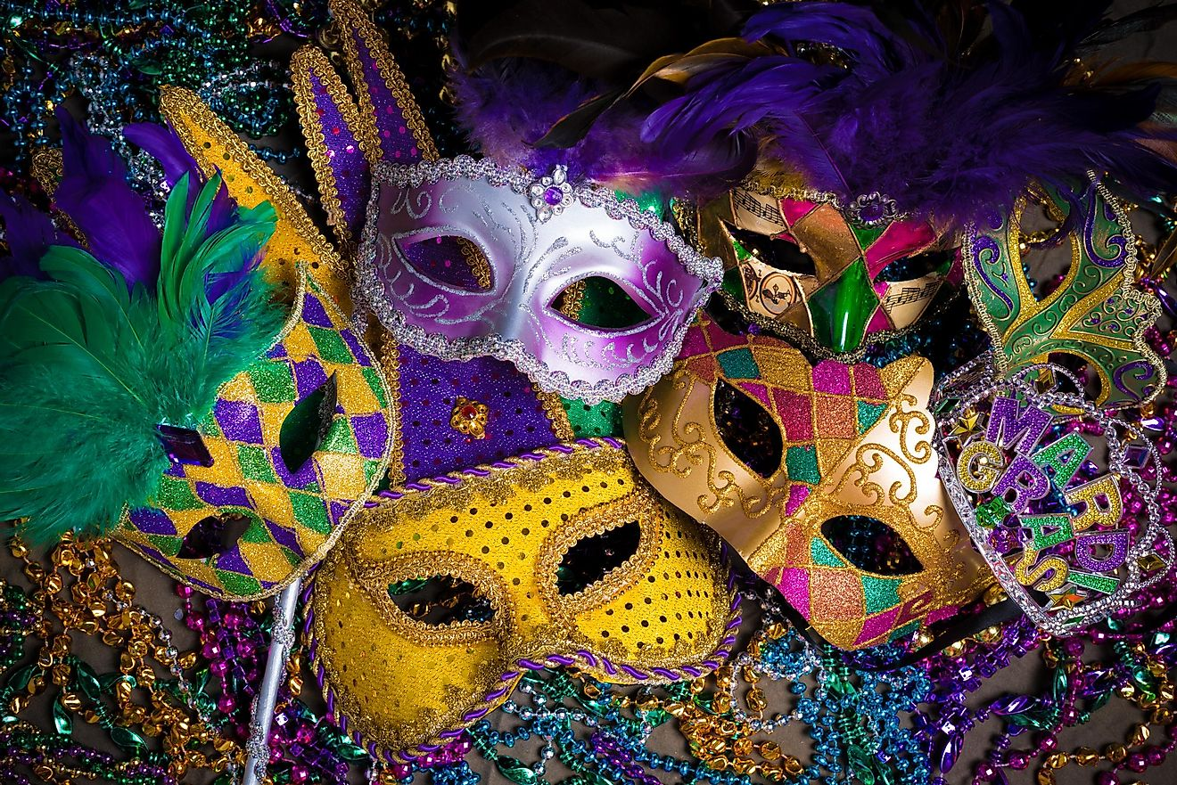 Masks are common for Mardi Gras celebrations.