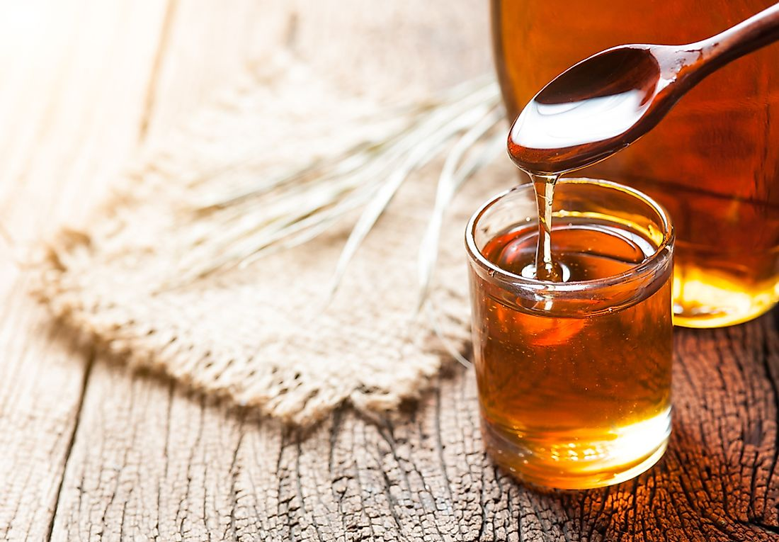 Maple syrup is a popular ingredient used in baking or as a flavoring agent or sweetener.