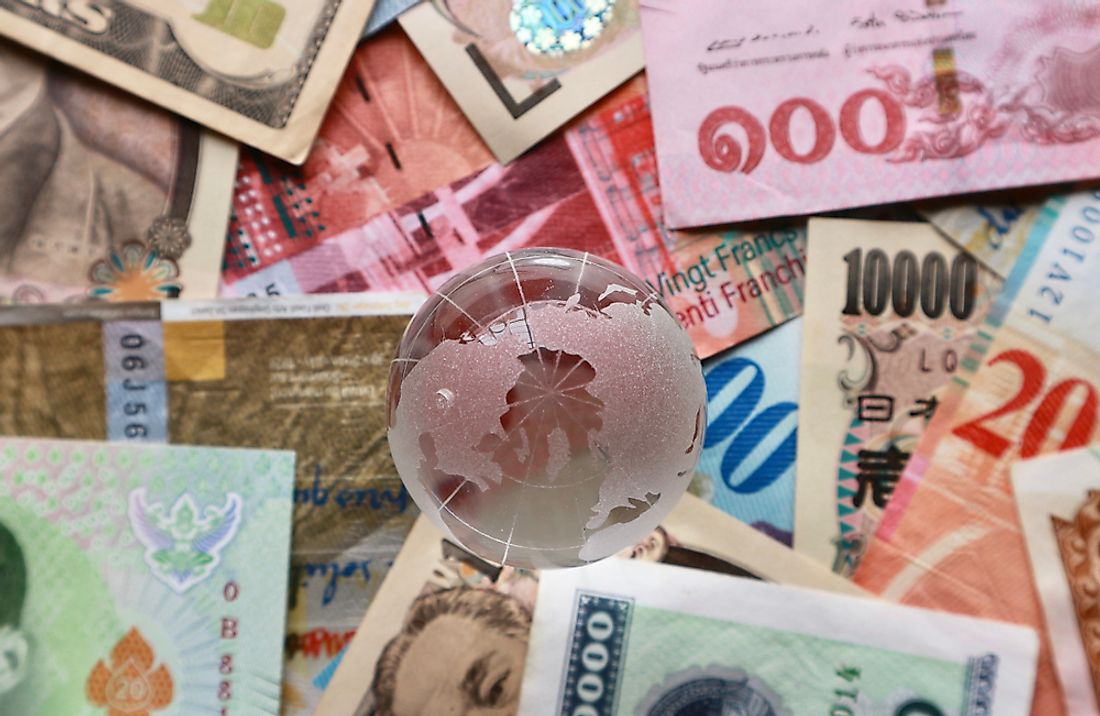 Many of the world's countries have their own currencies.