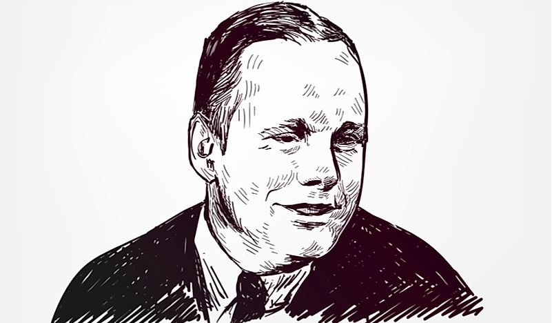 A portrait of Neil Armstrong. Editorial credit: Natata / Shutterstock.com.