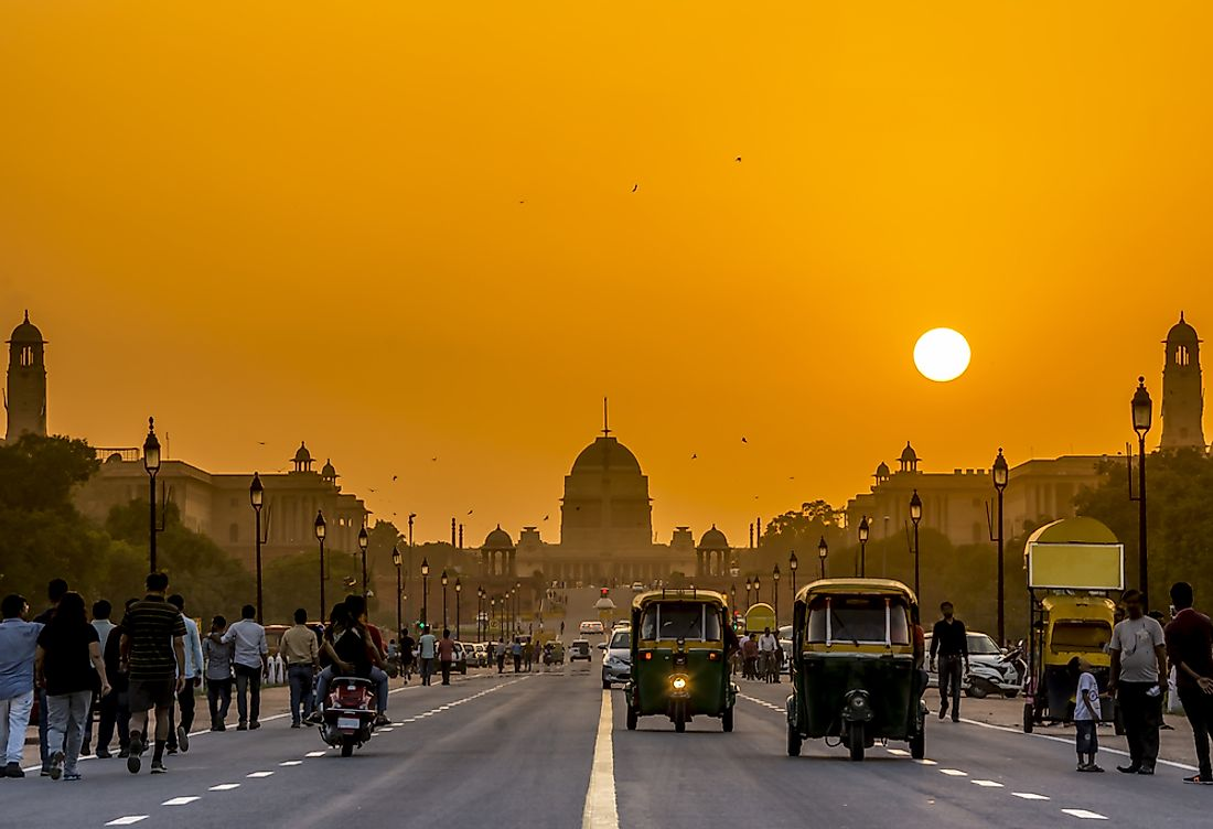 A view of Delhi, India.