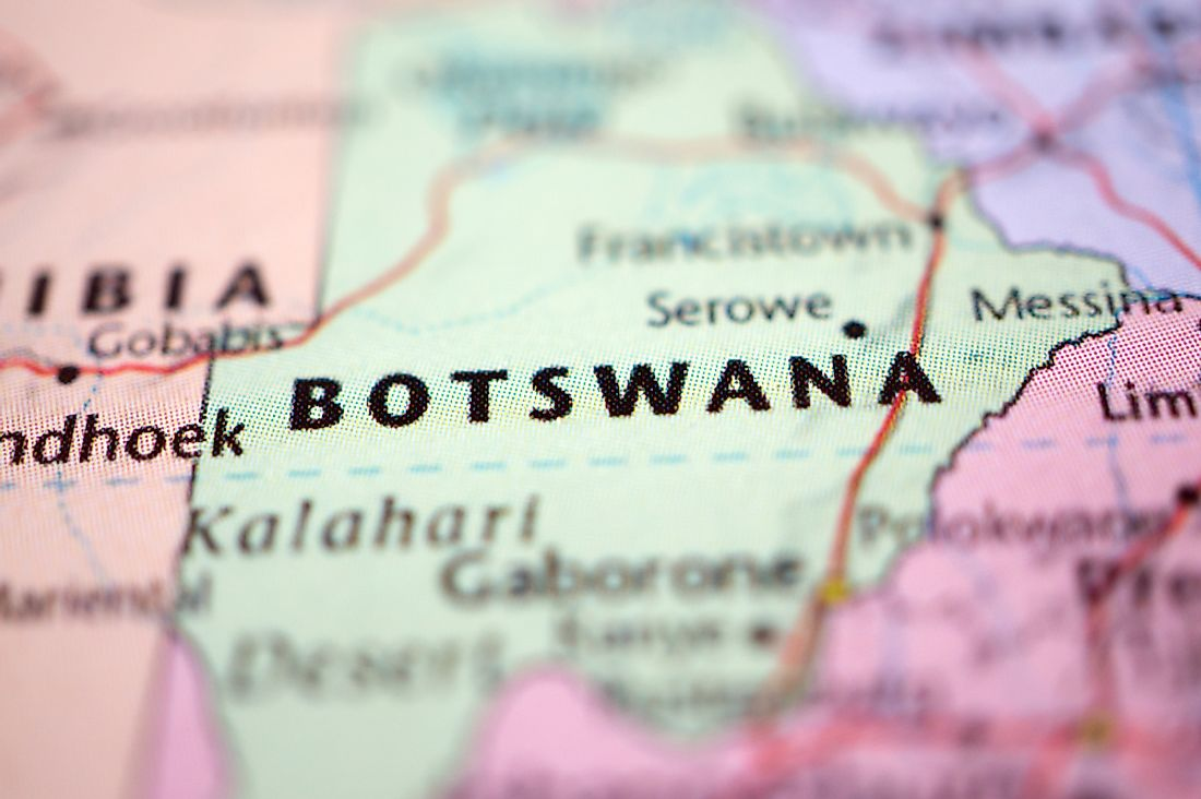Botswana is a country name that contains 8 letters.