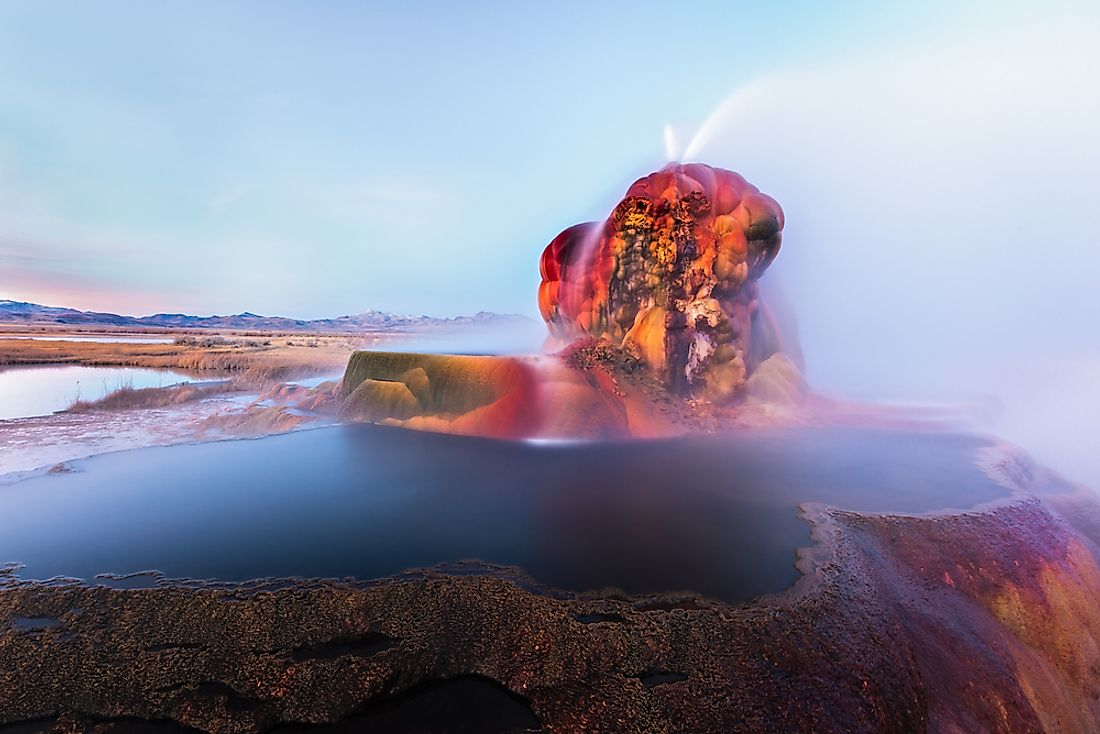 The Fly Geyser in Nevada, US.