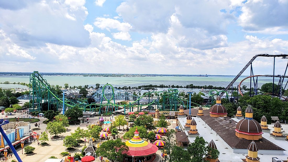 "Ohio is known for Cedar Point, ""America's Roller Coaster"". Editorial credit: Joe Hendrickson / Shutterstock.com."