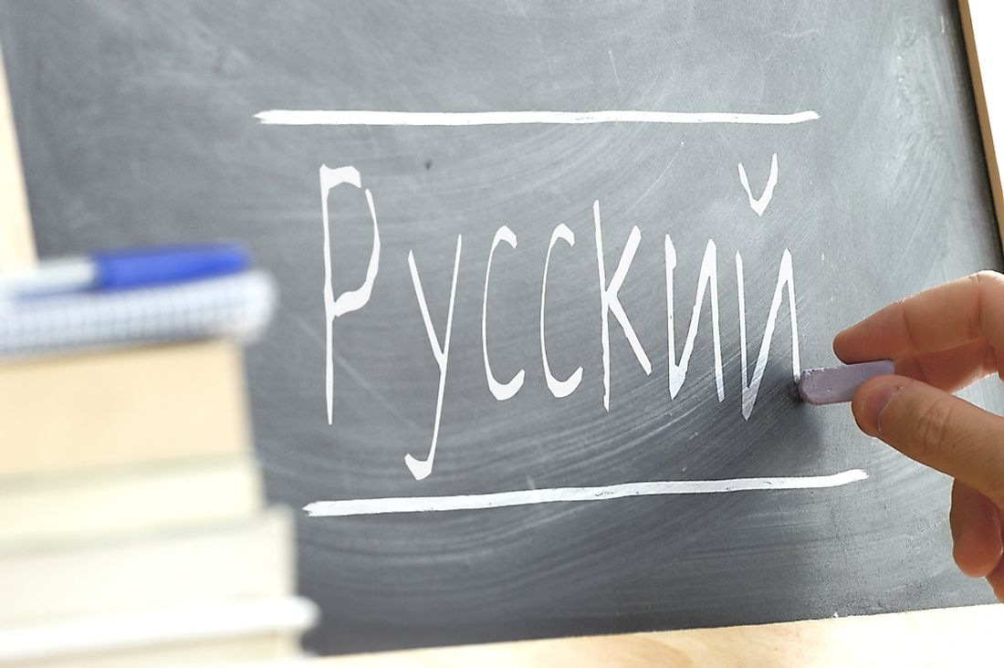 Russian is an example of a Slavic language.